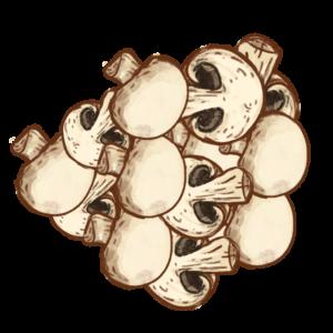 en bunke champignoner