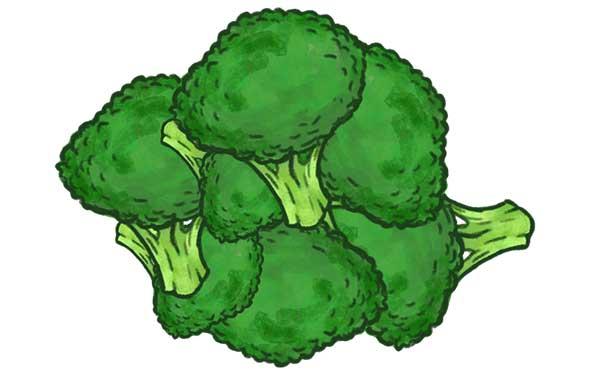 små broccolibuketter