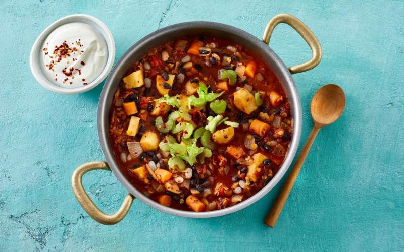 chili sin carne i gryde