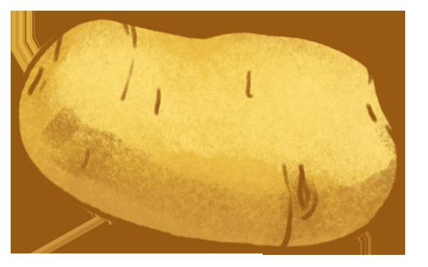 Kartoffel med skræl