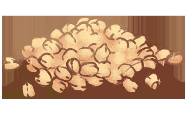 en bunke kikærter