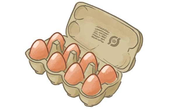 En æggebakke med brune økologisk æg